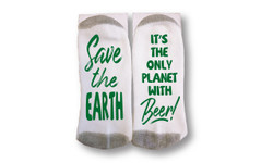 Image for Save the Earth It's the Only Planet with Beer Socks