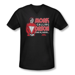 Image for Mork & Mindy T-Shirt - V Neck - Mork Calling Orson