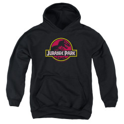 Image for Jurassic Park Youth Hoodie - 8-Bit Logo
