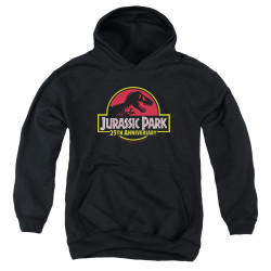 Image for Jurassic Park Youth Hoodie - 25th Anniversary Logo