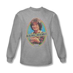 Image for Mork & Mindy Long Sleeve T-Shirt - Nanu Nanu