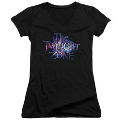 Image for The Twilight Zone Girls V Neck T-Shirt - Twilight Galaxy