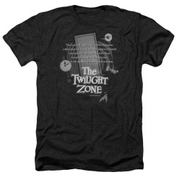 Image for The Twilight Zone Heather T-Shirt - Monologue