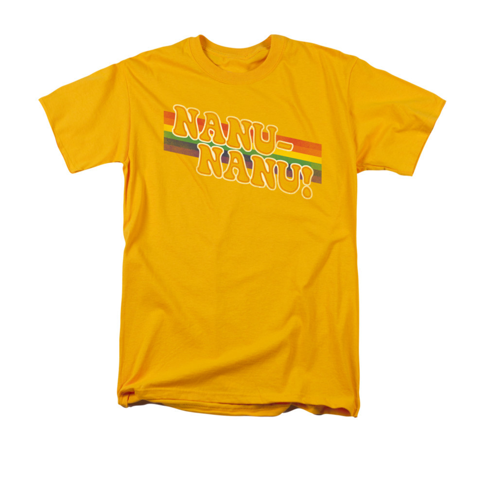 68c6c6cf Mork & Mindy T-Shirt - Nanu Nanu Rainbow. Loading zoom. Hover over image to  zoom