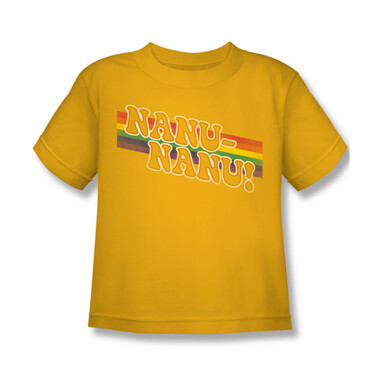 24e1c0f0 Mork & Mindy Kids T-Shirt - Nanu Nanu Rainbow - NerdKungFu