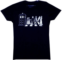 Image for Doctor Who Girls T-Shirt - Villain Street Crowd