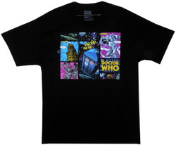 Image for Doctor Who T-Shirt - Comic Strip Villains