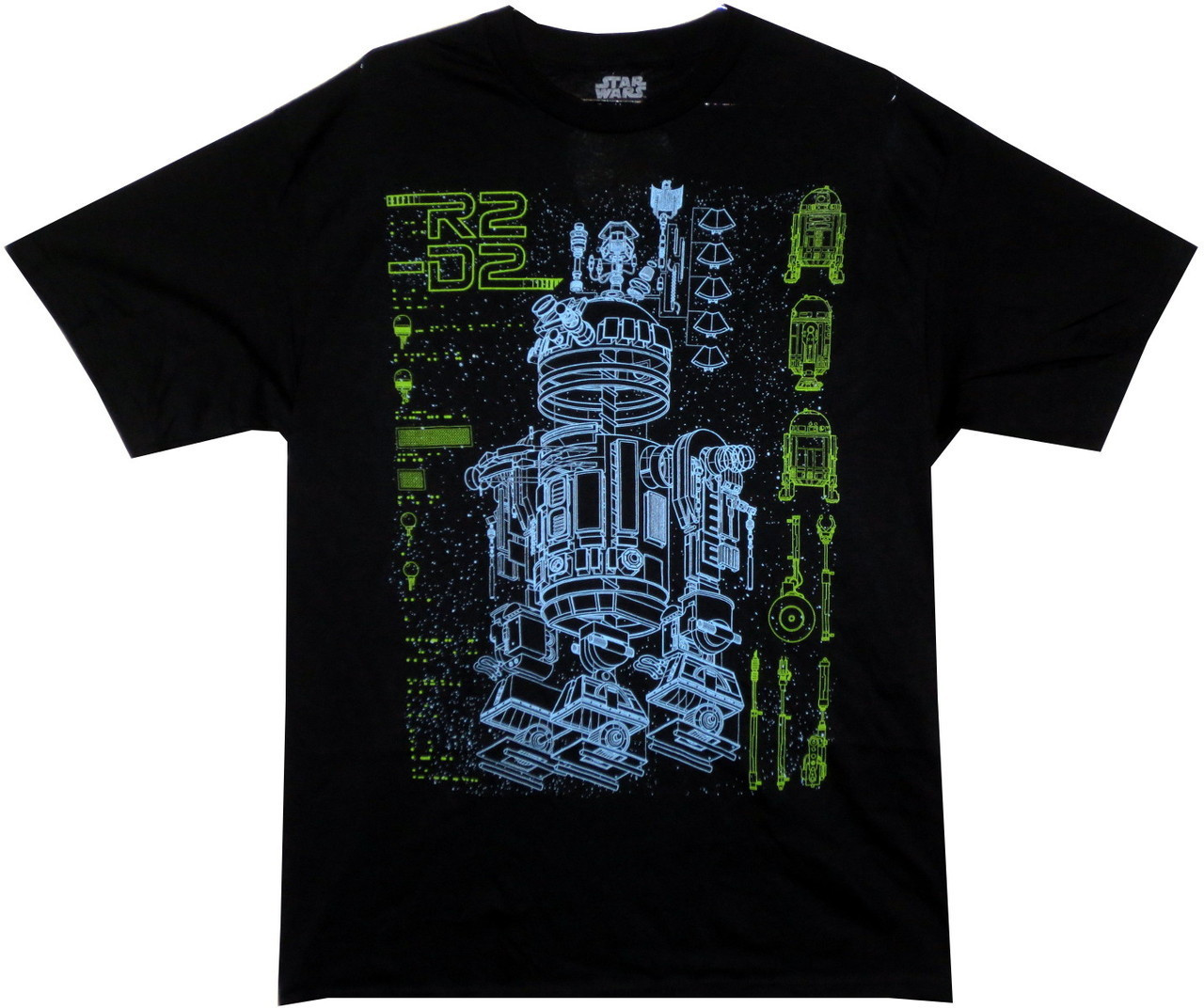 42c52cfb Star Wars T-Shirt - R2D2 Schematic