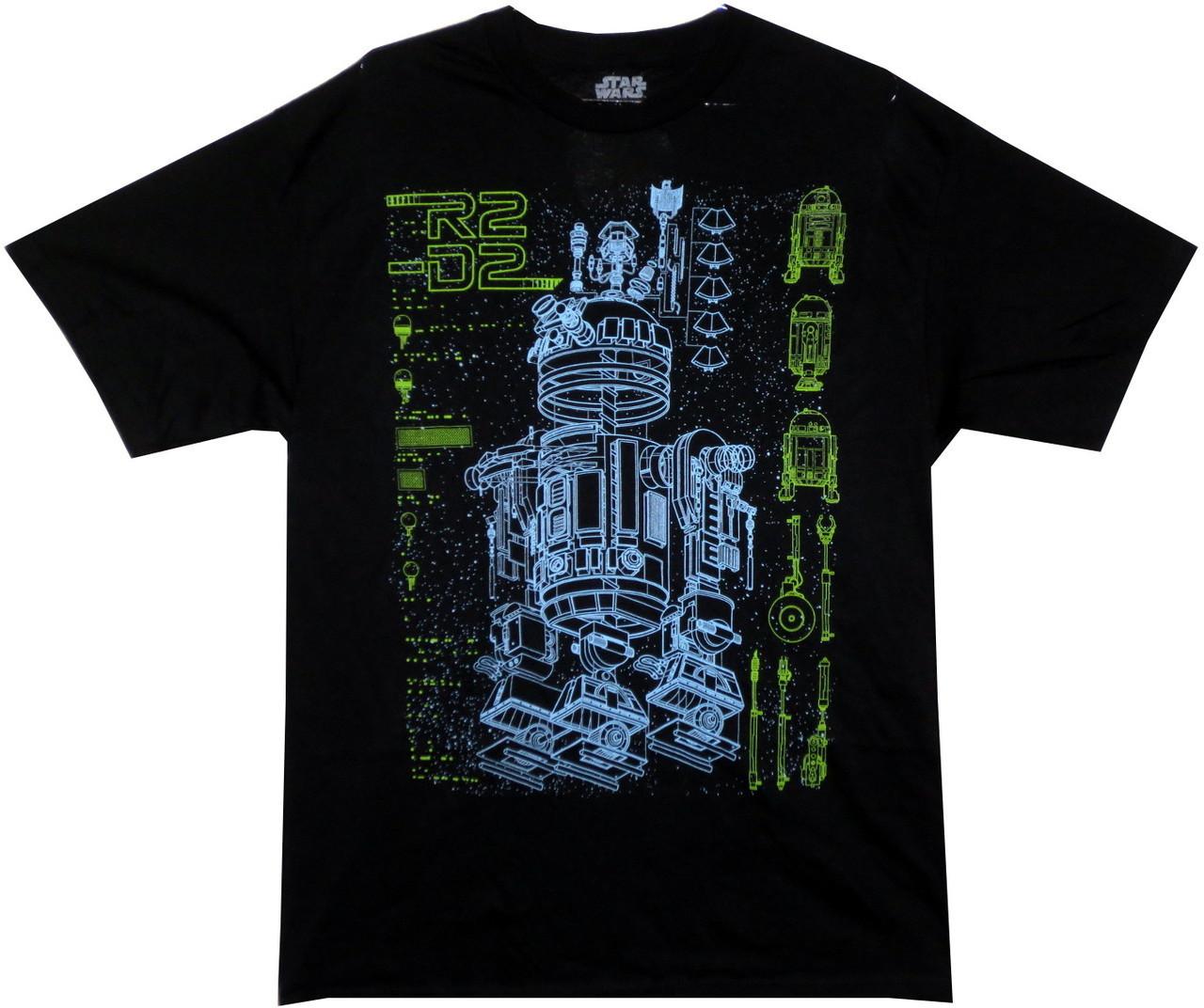 97e7ef099 Star Wars T-Shirt - R2D2 Schematic - NerdKungFu