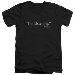 Image for Frasier T-Shirt - V Neck - I'm Listening