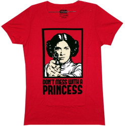 Image for Star Wars Girls T-Shirt - Don't Mess With a Princess