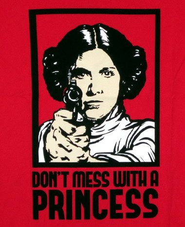 Image Closeup for Star Wars Girls T-Shirt - Don't Mess With a Princess
