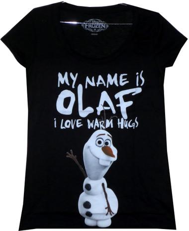 Image for Frozen Girls T-Shirt - Olaf Loves Warm Hugs