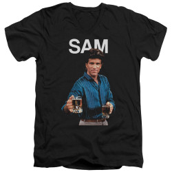 Image for Cheers T-Shirt - V Neck - Sam Malone