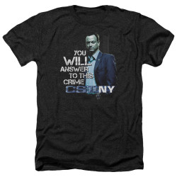 Image for CSI NY Heather T-Shirt - You Will Answer