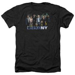 Image for CSI NY Heather T-Shirt - Cast