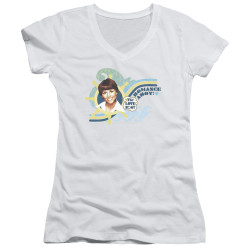 Image for The Love Boat Girls V Neck T-Shirt - Romance Ahoy!