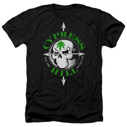 Image for Cypress Hill Heather T-Shirt - Skull and Arrows