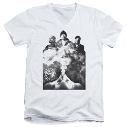 Image for Cypress Hill V Neck T-Shirt - Monochrome Smoke