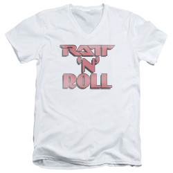 Image for Ratt V Neck T-Shirt - Ratt 'n Roll