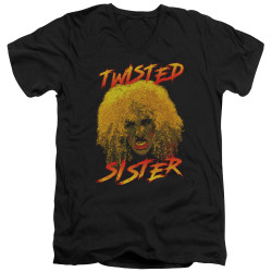 Image for Twisted Sister V Neck T-Shirt - Twisted Scream