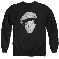 Image for Andy Griffith Show Crewneck - Barney Head