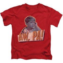 Image for Andy Griffith Show Kids T-Shirt - Aw Pa