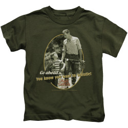 Image for Andy Griffith Show Kids T-Shirt - Gone Fishing