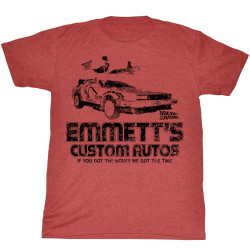 Image for Back to the Future T-Shirt- Emmett's Custom Autos