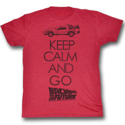 Image for Back to the Future T-Shirt - Keep Calm and Go Back to the Future