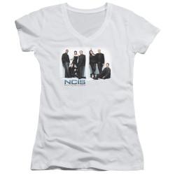 Image for NCIS Girls V Neck T-Shirt - White Room