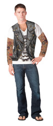 Image detail for BIker Tattoo Costume Sublimated Long Sleeve T-Shirt