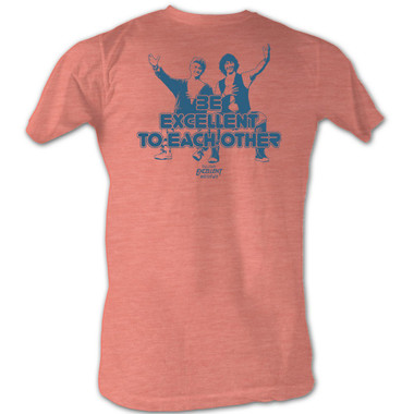 Image for Bill & Ted's Excellent Adventure T-Shirt - Be Excellent to Each Other