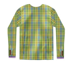 Image Closeup for Plaid Sports Coat Costume Sublimated Long Sleeve T-Shirt