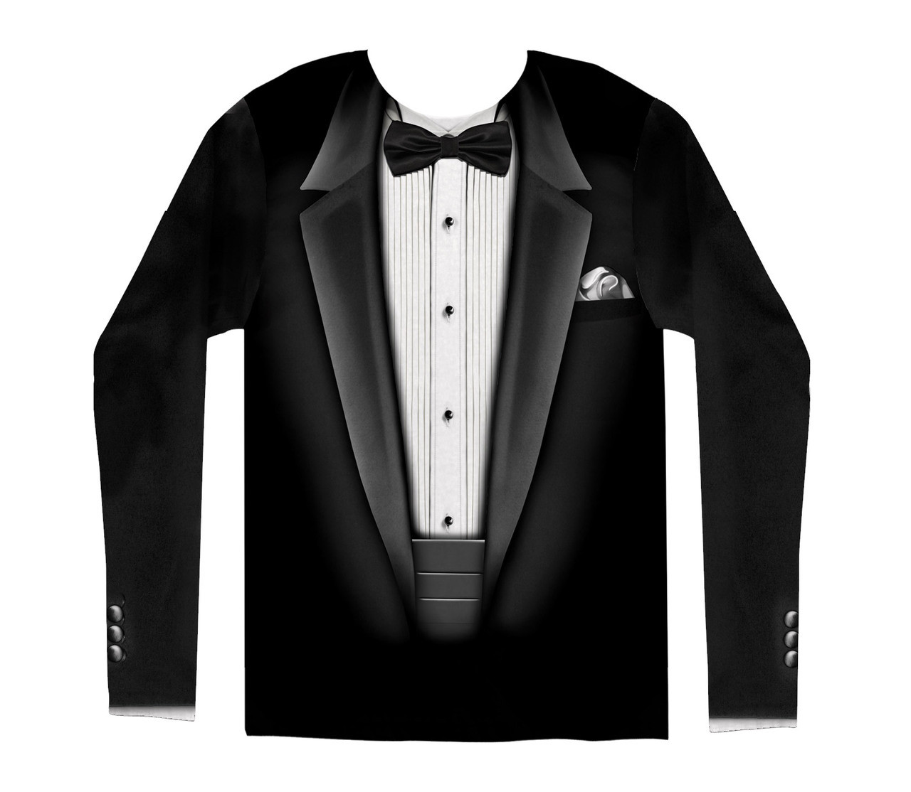 8a942606a Tuxedo Costume Sublimated Long Sleeve T-Shirt. Loading zoom