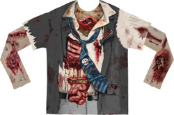 Image for Zombie Costume Sublimated Long Sleeve T-Shirt