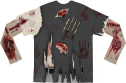 Zombie Costume Sublimated Long Sleeve T-Shirt