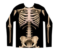 Image for Skeleton Costume Sublimated Long Sleeve T-Shirt