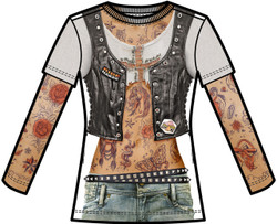 Image for Tattoo Sleeve Girls Sublimated T-Shirt