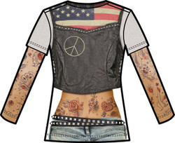 Image Closeup for Tattoo Sleeve Girls Sublimated T-Shirt