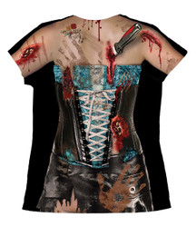 Image Closeup for Corset Zombie Girls Sublimated T-Shirt