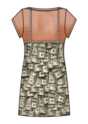 Image Closeup for Sugar Mama Money Girls Sublimated Dress