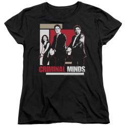 Image for Criminal Minds Woman's T-Shirt - Guns Drawn