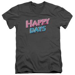 Image for Happy Days T-Shirt - V Neck - Logo