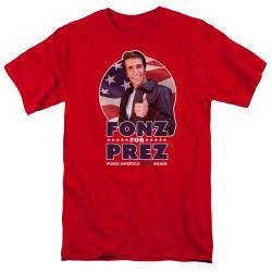 Image for Happy Days T-Shirt - Fonz for Prez