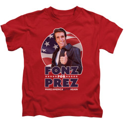Image for Happy Days Kids T-Shirt - Fonz for Prez