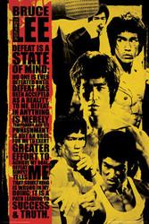 Bruce Lee Poster - Montage