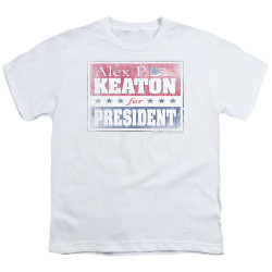 Image for Family Ties Youth T-Shirt - Alex for President
