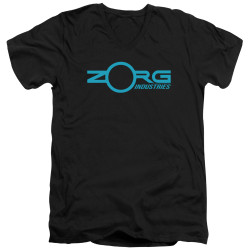 Image for The Fifth Element V Neck T-Shirt - Zorg Logo