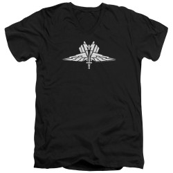 Image for Starship Troopers V Neck T-Shirt - Insignia